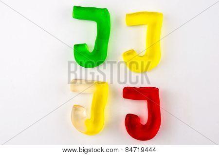Gummy Letters J