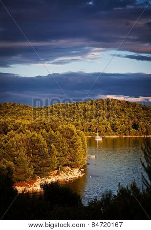 Picturesque view of Dalmatian coast at sunset