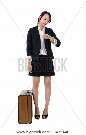 Business Girl Waiting
