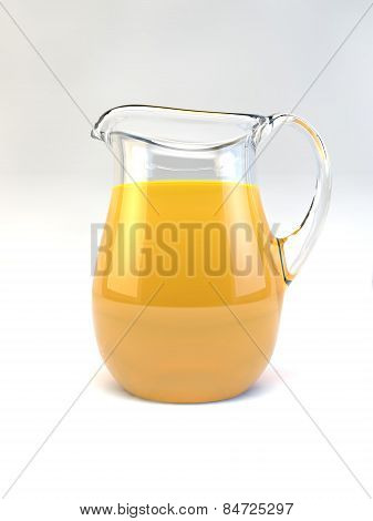 Orange Juice Beverage Jug