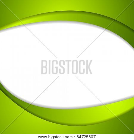 Abstract green wavy background. Vector design