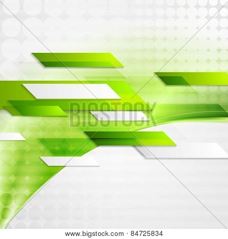 Abstract gree tech wavy background. Vector design
