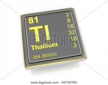 Thallium. Chemical element. 3d