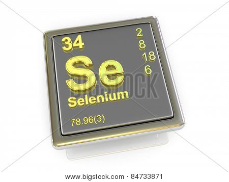 Selenium. Chemical element. 3d