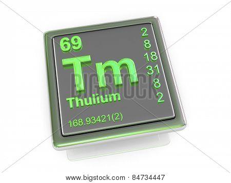Thulium. Chemical element. 3d
