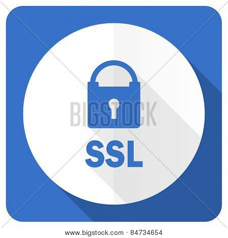 ssl blue flat icon