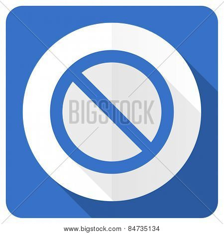 access denied blue flat icon