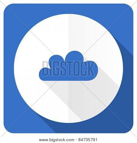 cloud blue flat icon waether forecast sign