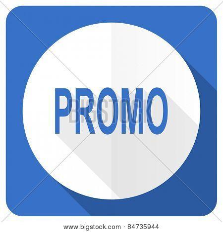 promo blue flat icon