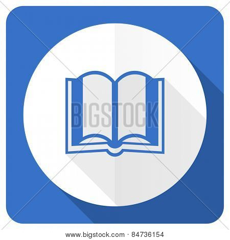 book blue flat icon