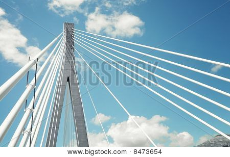 Fragment Of A Cable Stayed Bridge