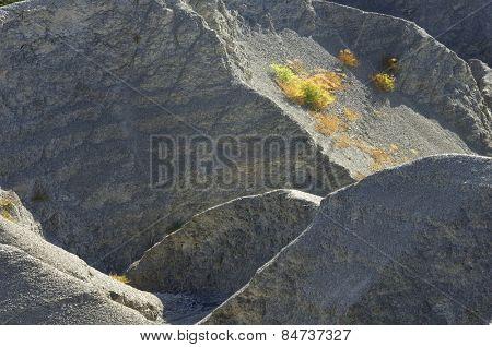 Loam landscape in Pyrenees, Aragon, Spain.