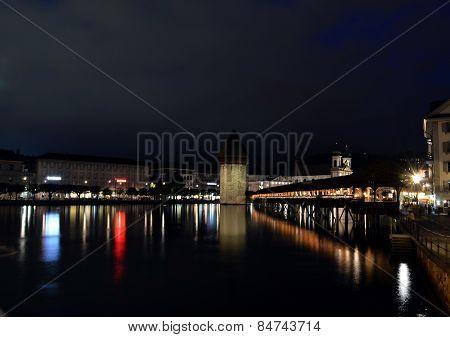 Chapel bridge in Luzern Switzerland