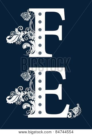 Vintage Floral Alphabet Set.