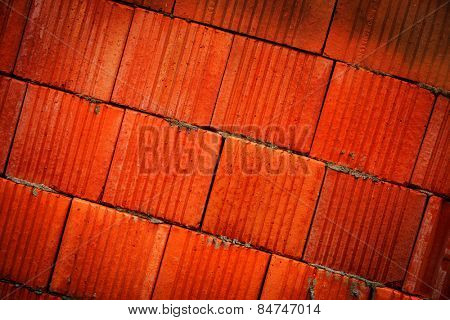 red brick wall - abstract background