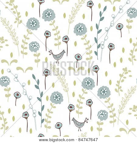 seamless meadow pattern