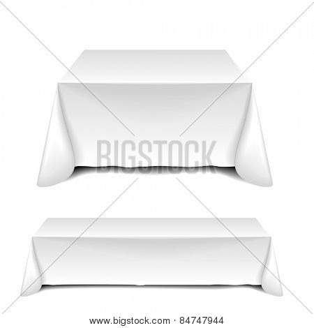 detailed illustration of blank white tables, eps10 vector