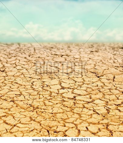 image from outdoor texture background series (dried up cracked earth in the sahara or another desert landscape)