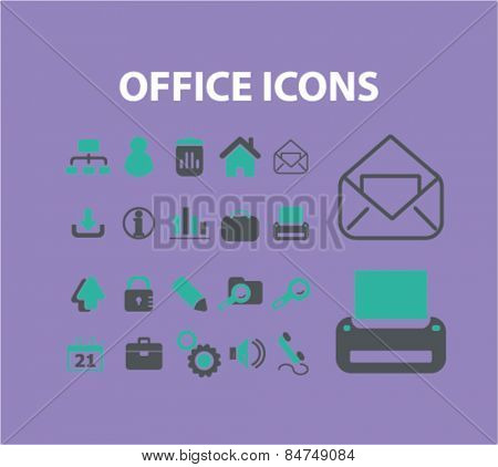 office icons set, vector