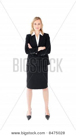 Assertive Businesswoman Looking At The Camera