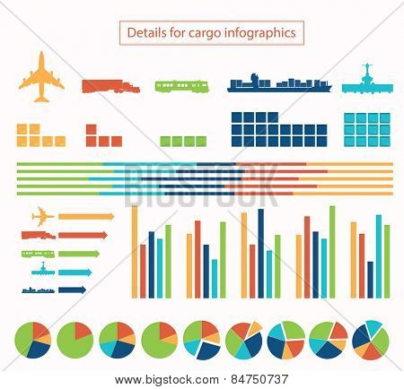 Details for cargo infographic illustration