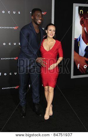 LOS ANGELES - FEB 24:  Prince Amukamara, Pilar Davis at the