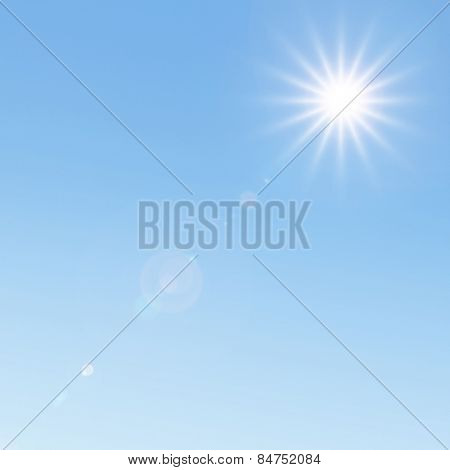Sunlight and lens flare