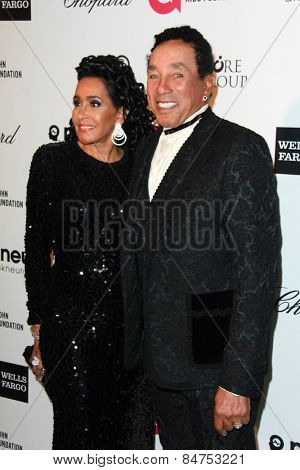 LOS ANGELES - FEB 22:  Smokey Robinson at the Elton John Oscar Party 2015 at the City Of West Hollywood Park on February 22, 2015 in West Hollywood, CA