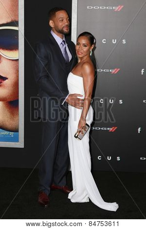 LOS ANGELES - FEB 24:  Will Smith, Jada Pinkett Smith at the