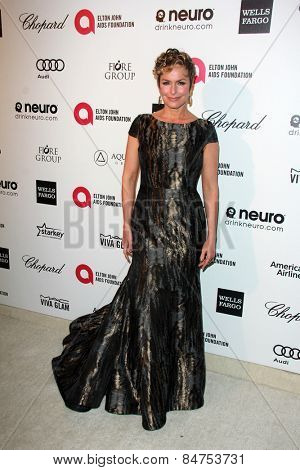 LOS ANGELES - FEB 22:  Melora Hardin at the Elton John Oscar Party 2015 at the City Of West Hollywood Park on February 22, 2015 in West Hollywood, CA