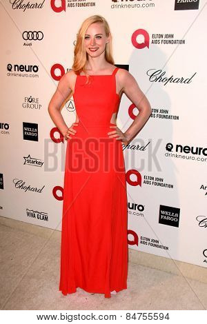 LOS ANGELES - FEB 22: angela martini at the Elton John Oscar Party 2015 at the City Of West Hollywood Park on February 22, 2015 in West Hollywood, CA