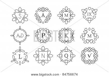 Line art logo templates