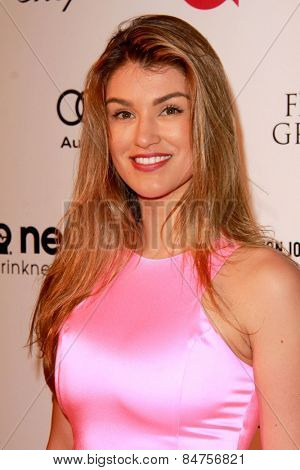 LOS ANGELES - FEB 22:  Amy Willerton at the Elton John Oscar Party 2015 at the City Of West Hollywood Park on February 22, 2015 in West Hollywood, CA