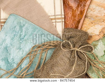 Linen Bag In Country Style