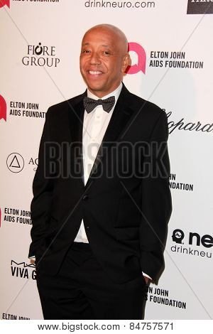 LOS ANGELES - FEB 22:  Russell Simmons at the Elton John Oscar Party 2015 at the City Of West Hollywood Park on February 22, 2015 in West Hollywood, CA