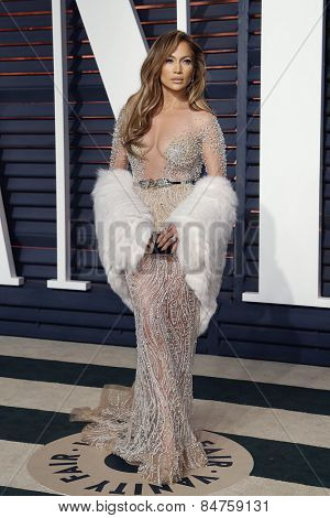 LOS ANGELES - FEB 22:  Jennifer Lopez at the Vanity Fair Oscar Party 2015 at the Wallis Annenberg Center for the Performing Arts on February 22, 2015 in Beverly Hills, CA