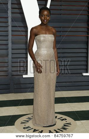 LOS ANGELES - FEB 22:  Lupita Nyong�?�¢??o at the Vanity Fair Oscar Party 2015 at the Wallis Annenberg Center for the Performing Arts on February 22, 2015 in Beverly Hills, CA