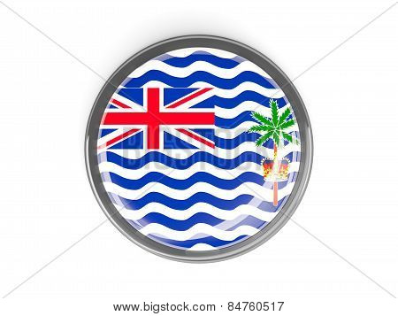 Round Button With Flag Of British Indian Ocean Territory