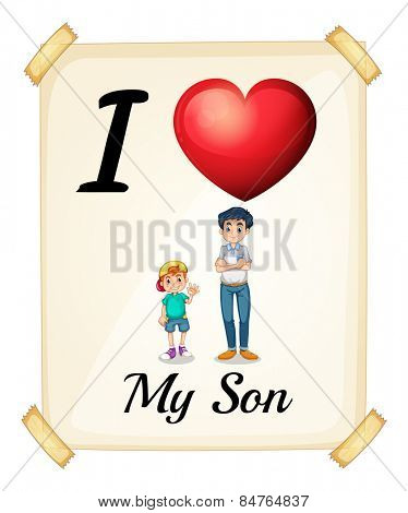 i love my son banner