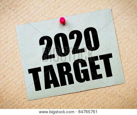 2020 Target Message