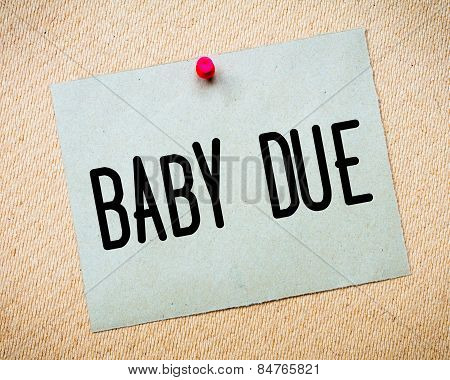 Baby Due Message