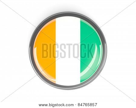 Round Button With Flag Of Cote D Ivoire