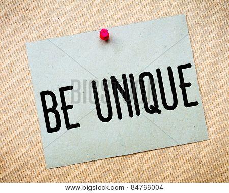Be Unique Message