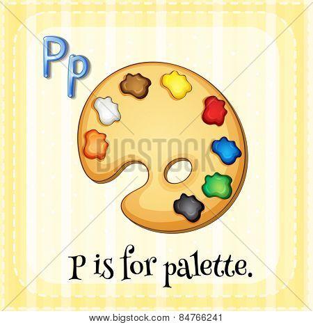Alphabet P is for palette