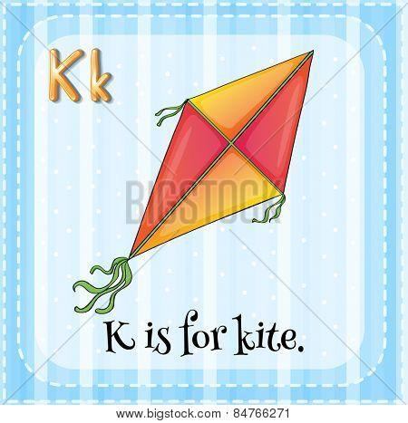 Alphabet K is for kite