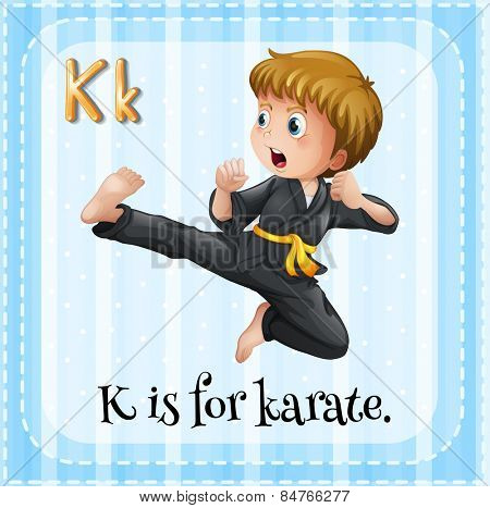 Alphabet K is for karate