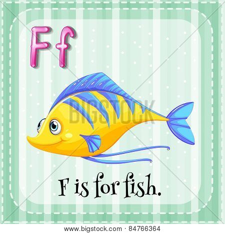Alphabet F is for fish
