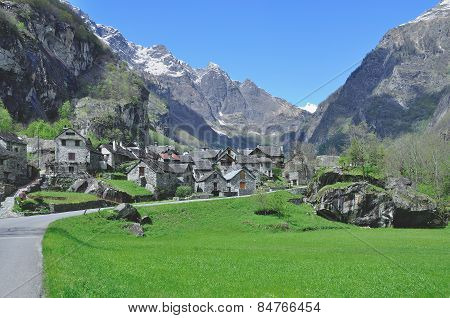 Bavona Valley,Ticino Canton,Switzerland