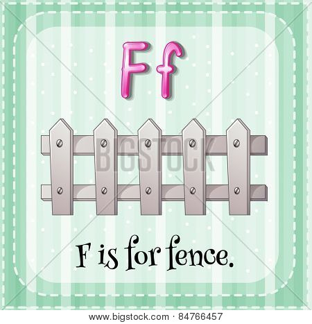 Alphabet F is for fence