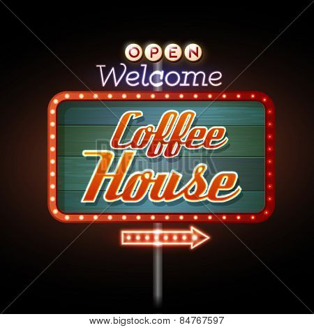 Neon Sign Coffee House